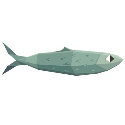 Sardinha Low-Poly